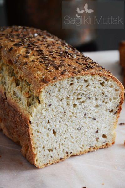 ekşi mayalı keten tohumlu kepekli ekmek