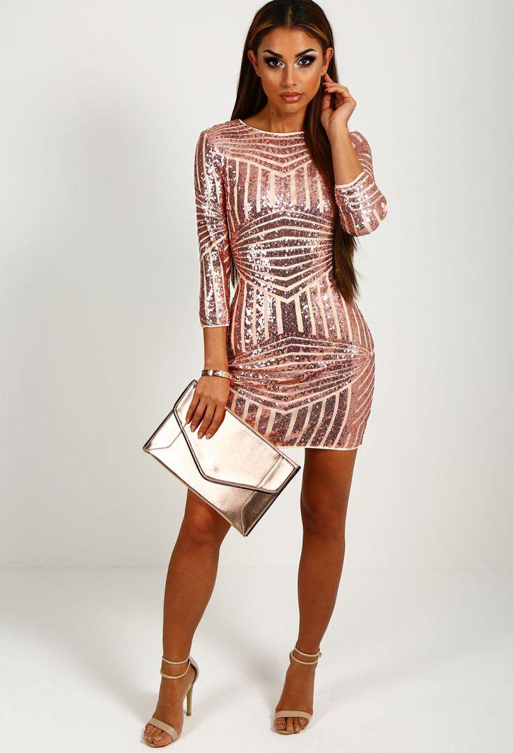 Rose Gold Mini Dress