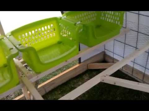 Dutch Hollow Hoop Coop and Chicken Tractor Tour - I really like her idea for putting in nest boxes. Good how-to photos/tutorial on her coop.