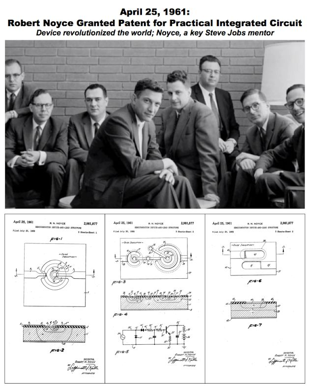 Today in History: Robert Noyce granted patent for integrated circuit, 1961 On…