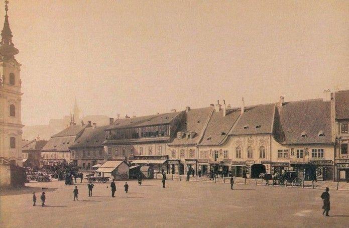1886, Batthyány tér, 1. kerület1886, Bomben Platz (Bomba tér), 1905-től Batthyány tér