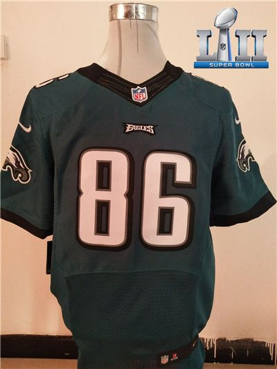 7120451de ... dark green elite jersey 51989 a3085  reduced new philadelphia eagles 86 zach  ertz midnight green super bowl lii team color nfl new