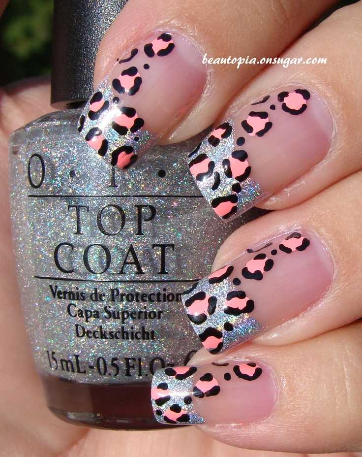 holo tips and leopard