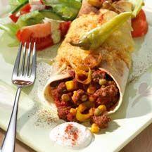Überbackene Enchilada mit Salat (WW 10 Punkte)