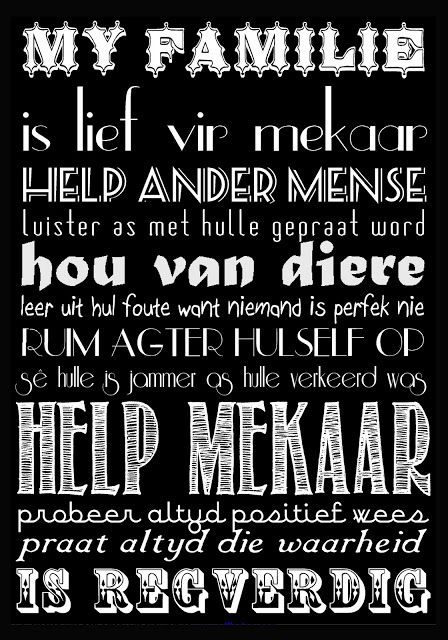 Subway art in AFRIKAANS! Ex Big Picture Classes Challenge #4 - use vintage fonts. 111013