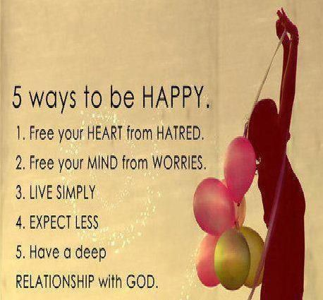 5 Ways To Be Happy Life Quotes Quotes Quote Happy Life Quote Balloons Happy  Quotes.