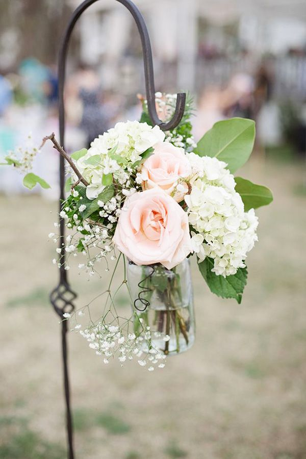 brides of adelaide magazine ceremony decorations flowers peach and white