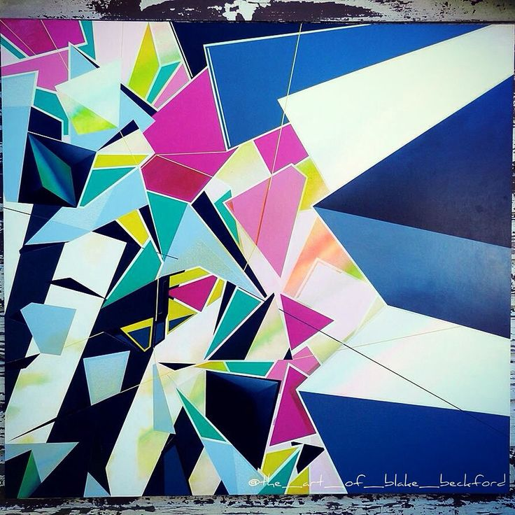 """Pentimentos"" by Blake Beckford. Acrylic on board. 1200x1300mm. #art #artist #acrylic #colour #geometric #painting #paint #texture #edges #sharp #shapes   Www.facebook.com/blakebeckfordart"