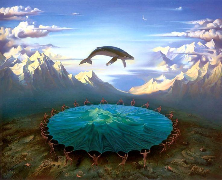 Landschaftsmalerei surrealismus  103 besten Vladimir Kush Paintings Bilder auf Pinterest | Vladimir ...