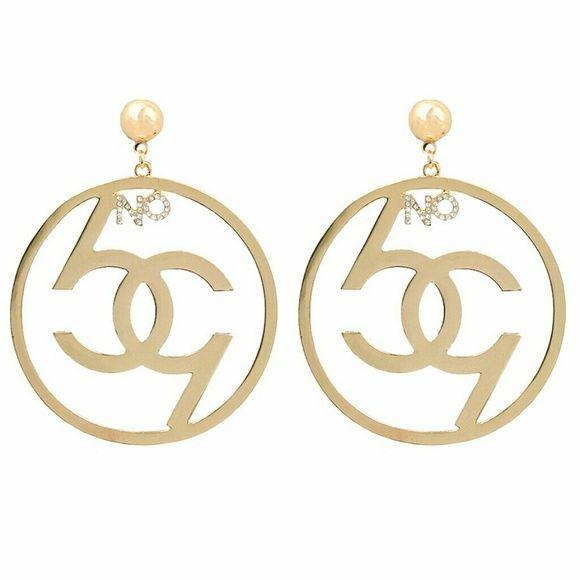 Fashion Jewelry 4 Gold No 69 Dangle Hoop Earrings My