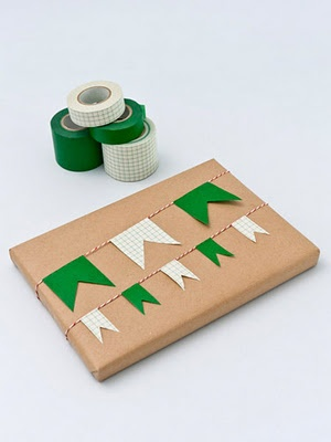 I have tape.  (In colors.)  I have brown shipping paper.  I can cut.  Why didn't I think of this?!