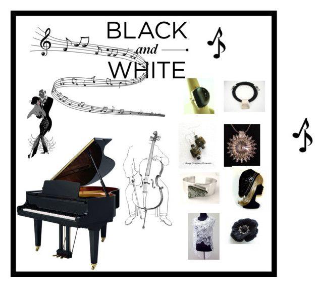 Black & White by glassdreamshawaii on Polyvore featuring ebony, integrityTT, TintegrityT, EtsySpecialT and etsyevolution