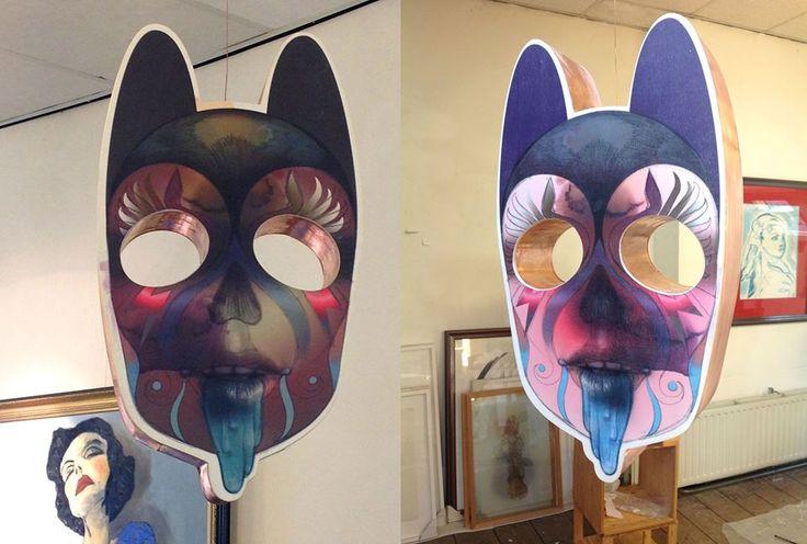 Meow, she speaks in a whisper. More info: http://www.lisavannoorden.nl/vrijwerk.html