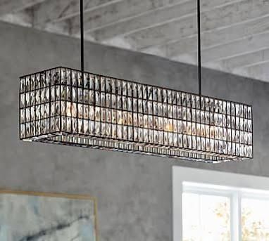 Play On Masculine Feminine Styles Perfect For About The Home Bar: Adeline  Crystal Rectangular Chandelier