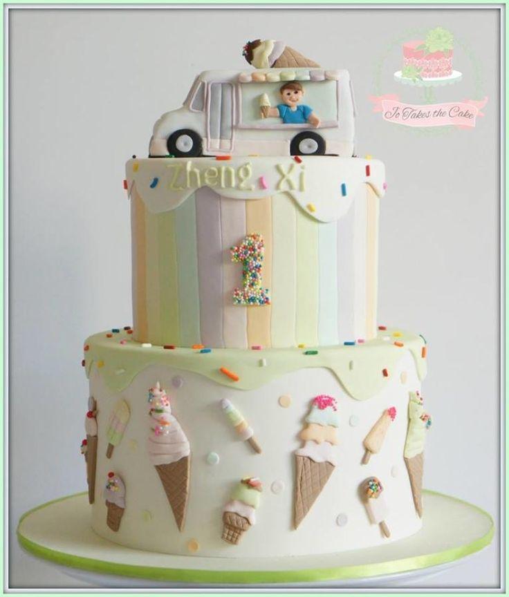 Pastel Ice cream cake by Jo Finlayson (Jo Takes the Cake)