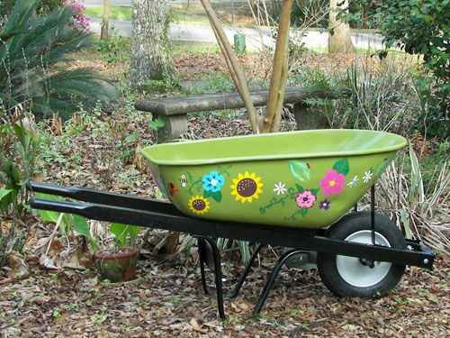 Hand-painted wheelbarrow -- check out the link to see the other photos!