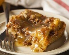 Pudding aux noix de pécan et au sirop d'érable