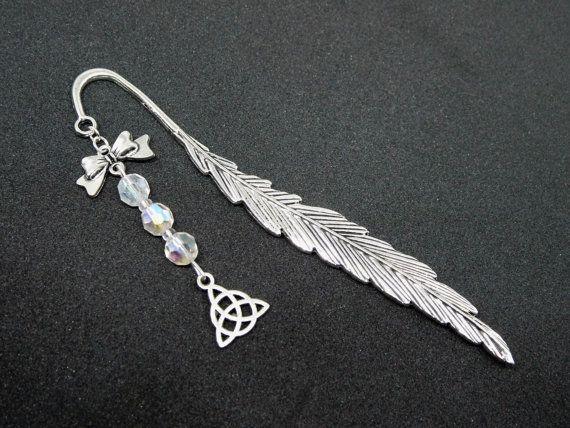 Lesezeichen Metall silber keltisch Metalllesezeichen von Mystiikka