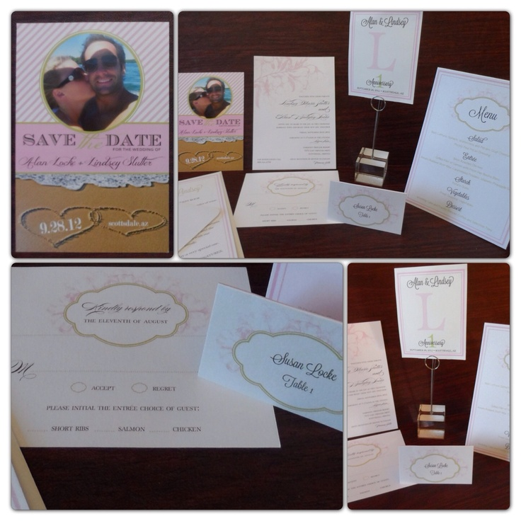 Complete Pink And Silver Ice Wedding Design Package By My Menuista