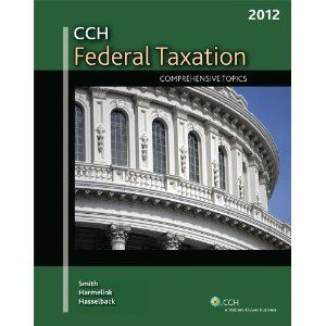 You Will Buy Official Exam Instructor Test Bank for CCH Federal Taxation Comprehensive Topics 2012 1st Edition Ephraim P. Smith ISBN-10: 0808026194 [Downloadable Word/Pdf Test files for Full Chapters]