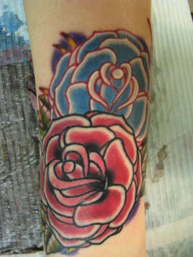 薔薇,バラ,熊本,カバーアップ,花タトゥー/刺青デザイン画像