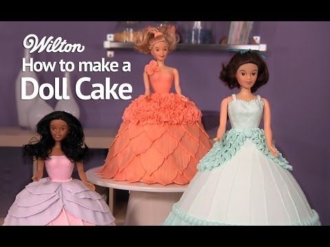 ▶ Learn How to Make and Decorate a Doll Birthday Cake - YouTube