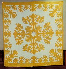 The Mamo design was a popular design in the 1920's. Appliqued by Caroline Correa; quilted by Ida Long