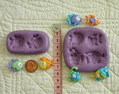 Colorful Fish Food Grade Safe Silicone Mold Mould for Cake Tool Fondant Gum Paste Pastillage Chocolate Candy Resin Plaster Clay Wax