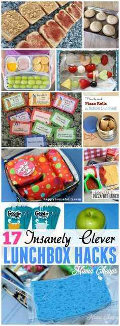 17 Insanely Clever LUNCHBOX HACKS for Packing School Lunches More back to school tips and deals on http://MamaCheaps.com!