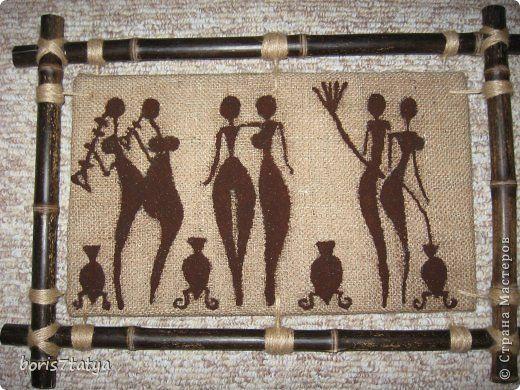 Картина панно рисунок Кофейные панно Кофе Мешковина фото 1