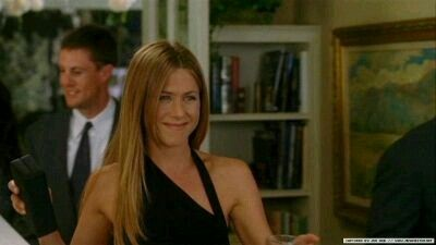 black sleeveless /Jennifer Aniston