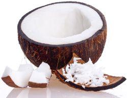 Olio di cocco può proteggere contro i danni dei capelli, idratare la pelle e funzione come protezione solare