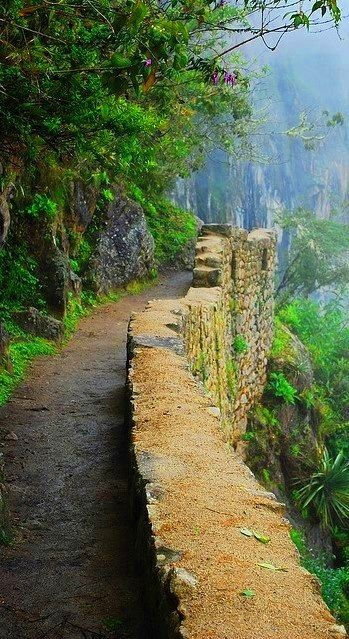 Cusco, Peru - omg, this is a perfect image of the Inca Trail! >>> a dream of mine to hike this!