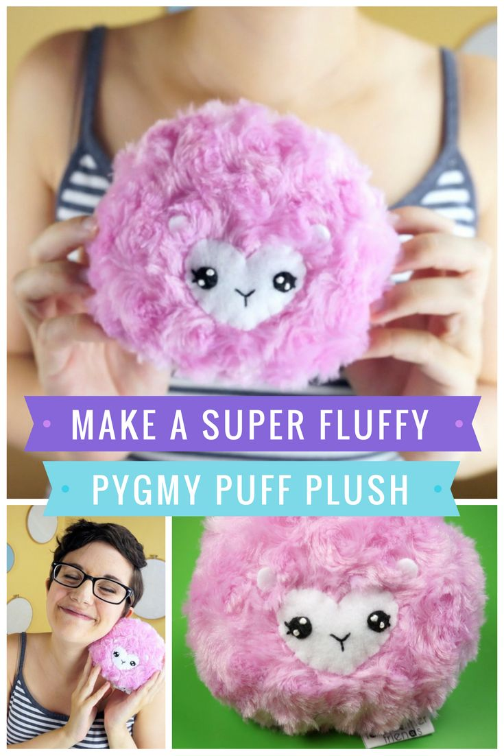 Make your own pygmy puff plushie inspired by these fantastic beasts from the Harry Potter books! #harrypotter #plushie #softie #stuffedtoy