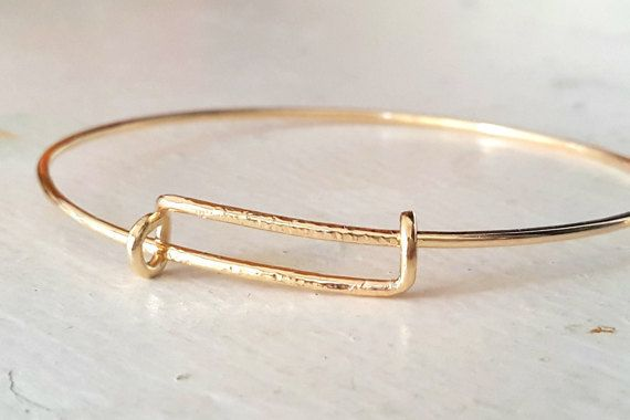 Expandable Gold Bangle Bracelet - Stacking Bracelet - Romana - Adjustable Bangles - Textured Bracelet - Handmade - Venexia Jewelry
