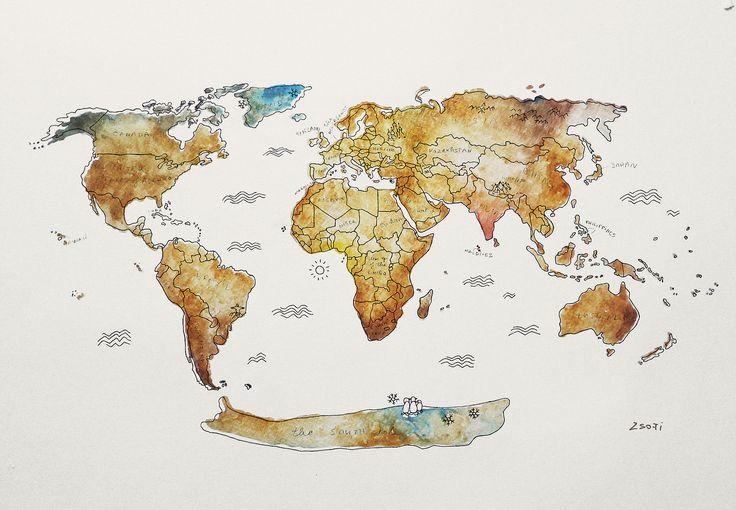 zsofigraphicdesign | world map