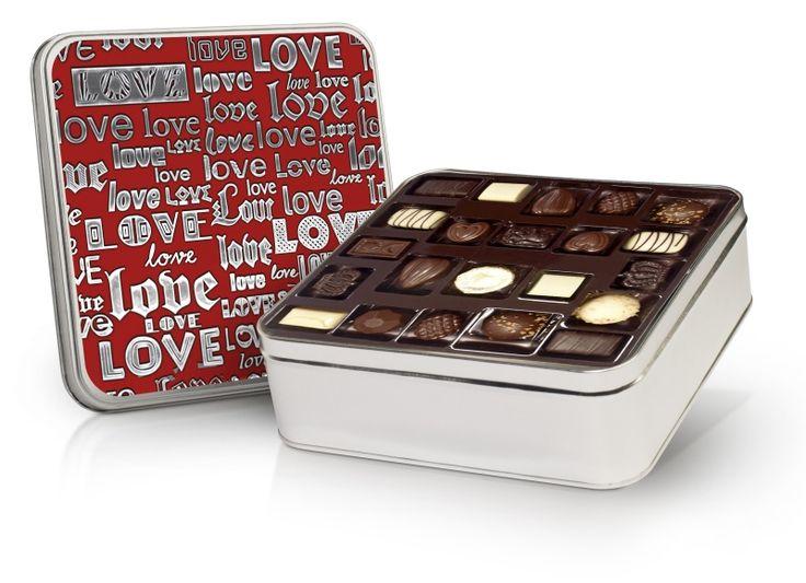 Valentýnská bonboniera 640g s belgickými čokoládovými pralinkami