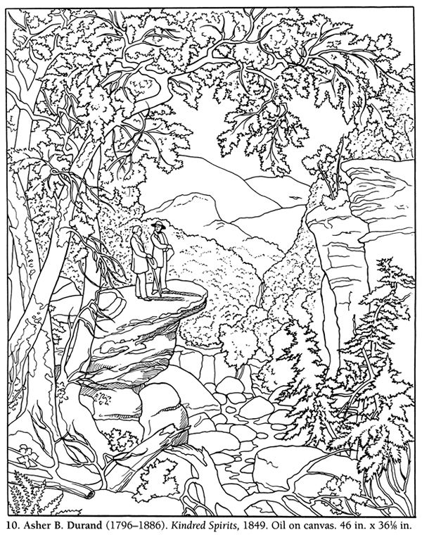 Color Your Own Famous American Paintings Dover Publications