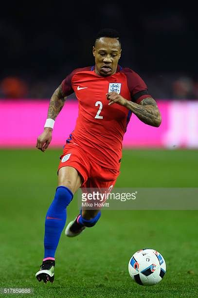 Nathaniel Clyne of England in action during an International friendly between Germany and England at Olympiastadion on March 26 2016 in Berlin Germany