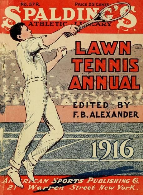 Vintage magazine cover from 1916.   #tennis  via @jamesrdesigner