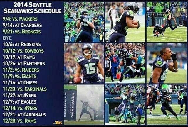 2014 seahawks schedule