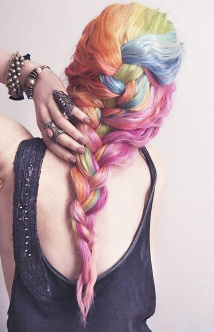 Kadınlarda Yeni Moda: Gökkuşağı Renkli Saçlar | Az Şekerli