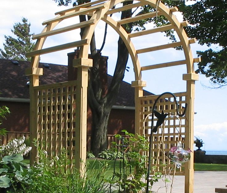 Cedar arbour by Flamborough Patio