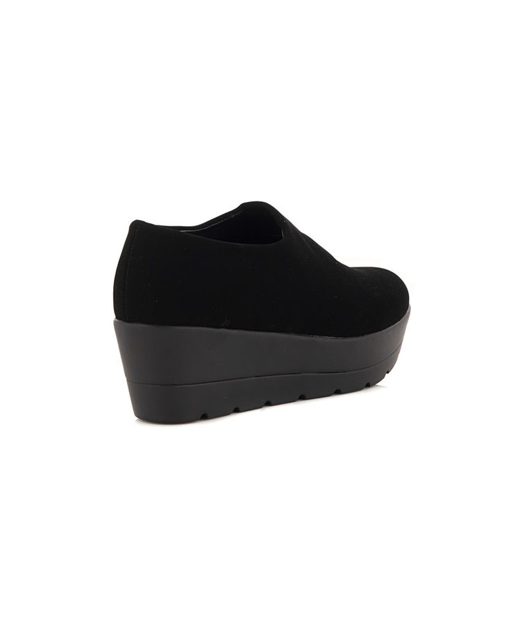 NR|RAPISARDI SUEDE SHOES Black suede shoes rubber sole conical toe  Wedge: 5 cm