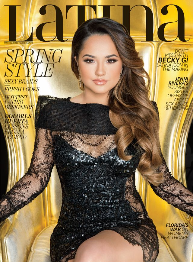 Becky G Latina Magazine March 2016 Cover Story