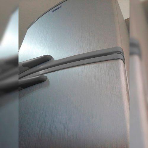Adesivo Aço Escovado Inox P/ Geladeira Moveis - 1m - R$ 15,00 em Mercado Livre