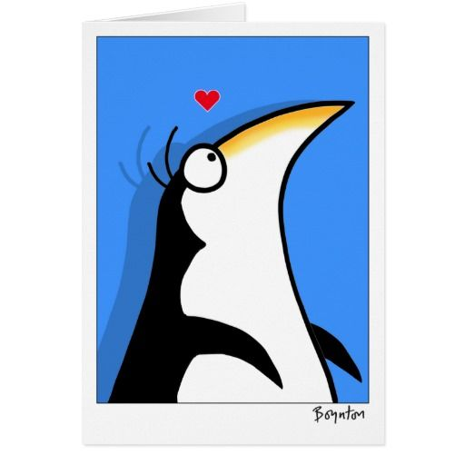 YOUR PERSONAL PENGUIN Boynton. Día de los enamorados, amor. Valentine's Day, love. #ValentinesDay #SanValentin #love #postal #greeting #card