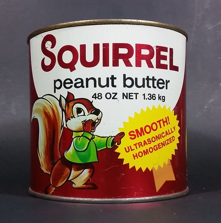 Vintage 1970s Squirrel Peanut Butter 48 oz Net 1.36kg Tin Can No Lid https://treasurevalleyantiques.com/products/vintage-1970s-squirrel-peanut-butter-48-oz-net-1-36kg-tin-no-lid #Vintage #VintageTins #1970s #70s #Seventies #Squirrel #Peanut #Butter #Tins #Toast #Breakfast #CuteAnimals #Graphics #Decorative #Kitchen #Collectibles #Decor #BuyNow #OrderToday