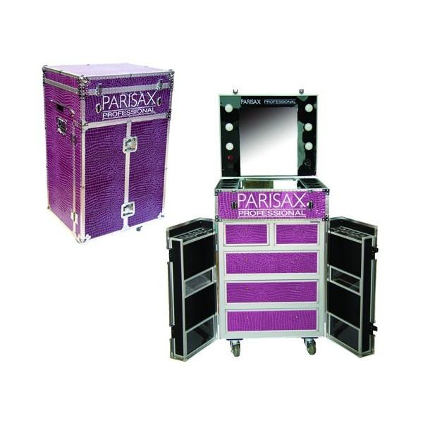 table de maquillage violetprune miroir valise pin pictures. Black Bedroom Furniture Sets. Home Design Ideas