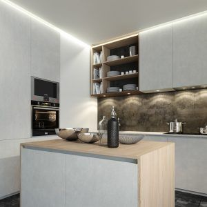 Small Contemporary Kitchen Cabinets